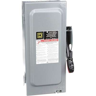 Safety Switch, 1 NEMA Enclosure Type, 60 Amps AC, 10 HP @ 240VAC HP