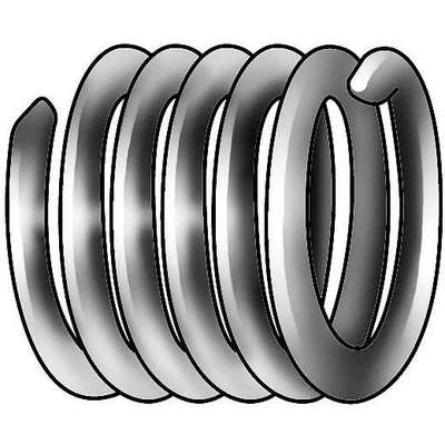 "0.562"" 304 Stainless Steel Helical Insert, 3/8-16 Internal Thread; PK100"