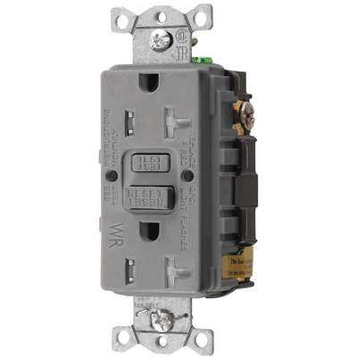 20A Commercial Receptacle, Gray; Tamper Resistant: Yes