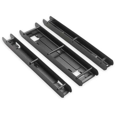 Catalog Rack Post Section, 1 In H, Black
