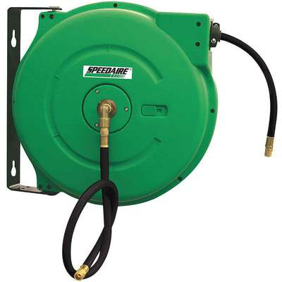 "3/8"", 50 ft. Spring Return Hose Reel, 300 psi Max. Pressure"