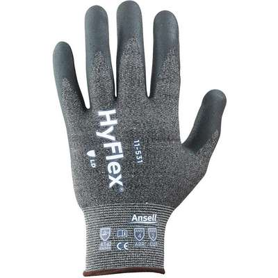 Cut-Resistant Gloves, 8, A2 ANSI/ISEA Cut Level, Palm, Nitrile Glove Coating Material, 1 PR