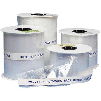 "Open Poly Bag, 1.40 mil, Clear Low Density Polyethylene (LDPE), Width 4"", Length 8"", 1750 PK"