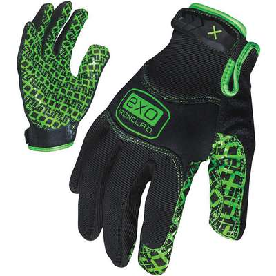 General Utility Grip Gloves, Diamondclad Silicone Synthetic Leather Palm Material, Black, S, PR 1
