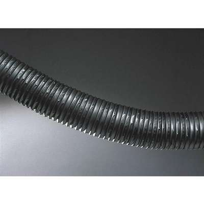 "25 ft. Thermoplastic Rubber Industrial Ducting Hose with 2.9"" Bend Radius, Black"