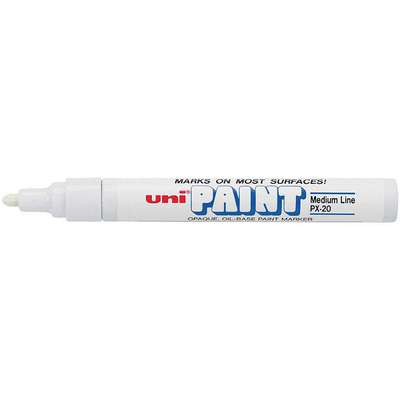 Permanent Paint Marker, Paint-Based, Whites Color Family, Medium Tip, 12 PK