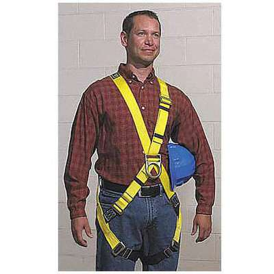 Full Body Harness with 420 lb. Weight Capacity, Yellow, L