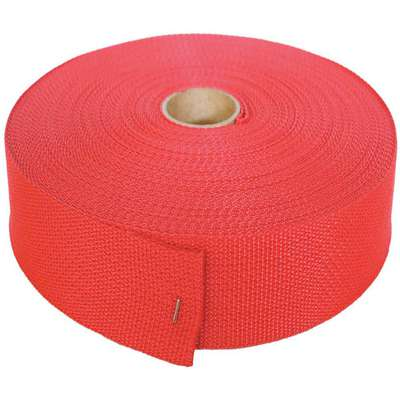 BULK-STRAP™ Polypropylene Bulk Webbing; 102 ft. L x 1-1/2 in. W, Red