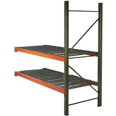 "96""W x 48"" D x 96""H Steel Pallet Rack Add-On Unit, 19,380 lb. with Beams Evenly Spaced at 36"""