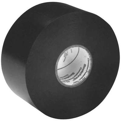 "Vinyl Corrosion Protection Tape, Rubber Tape Adhesive, 10.00 mil Thick, 2"" X 100 ft., Black, 1 EA"