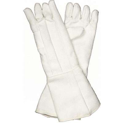 Heat Resistant Gloves, Zetex® Highly Texturized Fiberglass, 1000°F Max. Temp., One Size Fits Most, P