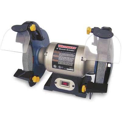 "Westward 1KEN1 8"" Bench Grinder, 120V, 1/2 HP, 3450 Max. RPM, 5/8"" Arbor, 3.0 Amps"