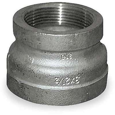 "304 Stainless Steel Reducing Coupling, FNPT, 3"" x 2"" Pipe Size - Pipe Fitting"