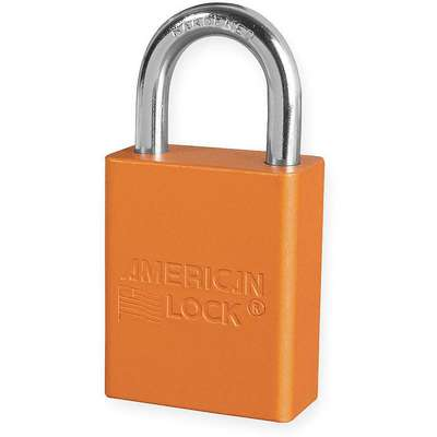 Orange Lockout Padlock, Alike Key Type, Aluminum Body Material, 1 EA