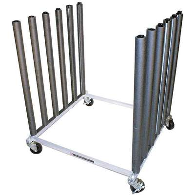 "Mobile Bulk Rack,  Aluminum,  36"" Height,  For Use With Windshields"