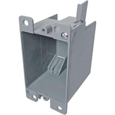 "Electrical Box, PVC, 1-1/2"" Nominal Depth, 2-1/4"" Nominal Width, 2-7/8"" Nominal Length"