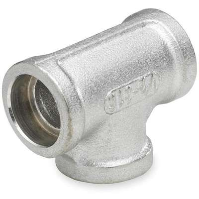 "316 Stainless Steel Tee, FNPT, 3/4"" Pipe Size - Pipe Fitting"