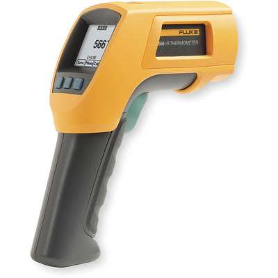 Dot Matrix LCD InfraredThermometer, Laser Sighting: Single Dot, -40° to1202° Temp. Range (F)