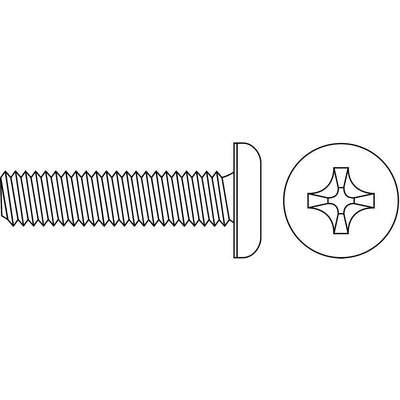 "#10-32 Machine Screw, Carbon Steel, 1-3/4"" L, 100 PK"