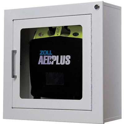 Automatic Defibrillator with Wall Cabinet, AHA Compliant