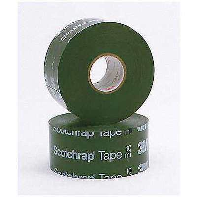 "Vinyl Electrical Tape, Rubber Tape Adhesive, 20.00 mil Thick, 2"" X 100 ft., Black, 12 PK"