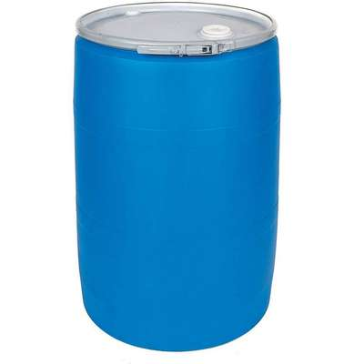 55 gal. Blue Polyethylene Open Head Transport Drum