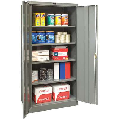 "Commercial Storage Cabinet, Dark Gray, 78"" H X 48"" W X 24"" D, Assembled"