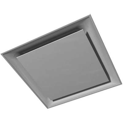 Ceiling Diffuser,  Square Plaque,  8 in Diffuser Duct Size,  Square,  3 1/2 in Depth,  White