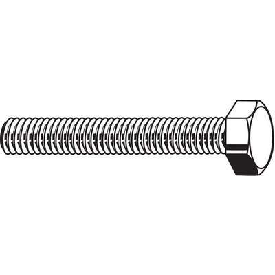 "7/16""-14, Steel Hex Tap Bolt, Grade 5, 3-1/2""L, Zinc Plated Finish, 10 PK"