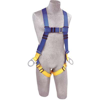 First Full Body Harness with 320 lb. Weight Capacity, Black/Blue, Universal