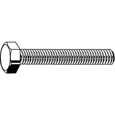 M12-1.75, Stainless Steel Hex Head Cap Screw, A4, 20mmL, Plain Finish, 25 PK