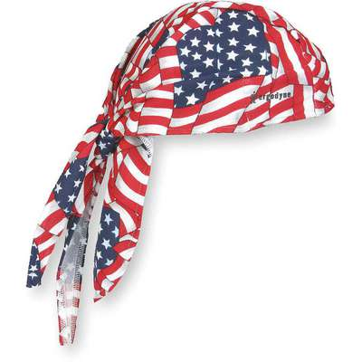 Dew Rag, Terrycloth, Red, White and Blue, Universal,1 EA