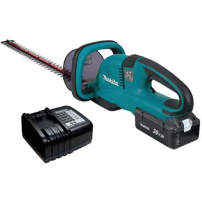 "Hedge Trimmer, Double-Sided Blade Type, 25-1/2"" Bar Length, 36V Electric Engine"