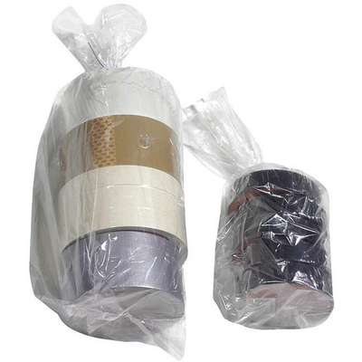 "Open Poly Bag, 0.75 mil, Clear Linear Low Density Polyethylene (LLDPE), Width 4"", Length 12"""
