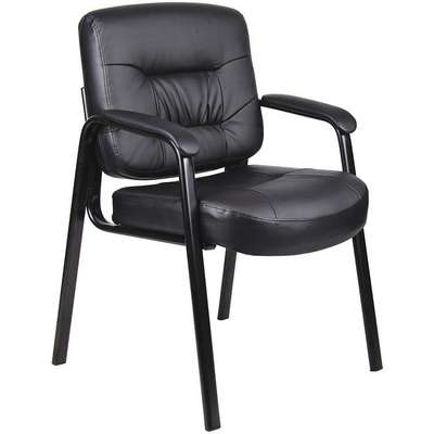 "Guest Chair,Black Frame,Seat 19-1/2"" H"