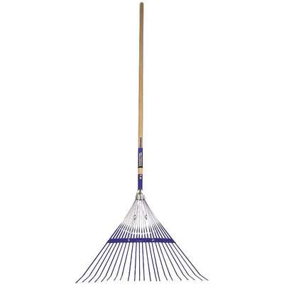24 Tine Lawn Rake; 54 in. Wood Handle, 15-1/2 in. Tines