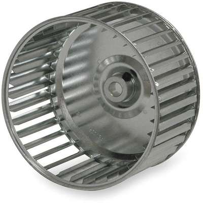 Blower Wheel,  5 1/16 in Wheel Dia. (In.),  CW Closed End,  Galvanized Steel