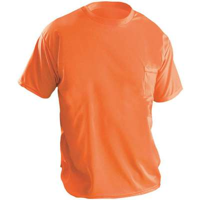 Occunomix Unisex Pullover, Polyester T-Shirt; Hi-Visibility Orange, X-Large