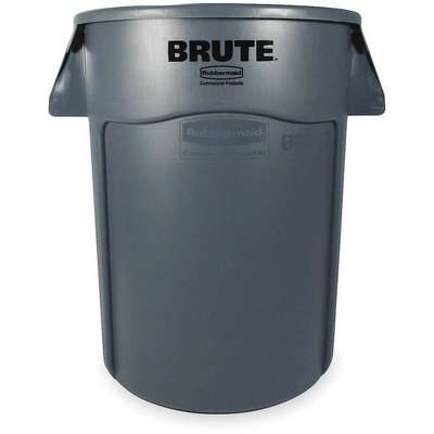 "BRUTE® 55 gal. Round Open Top Utility Trash Can, 33""H, Gray"