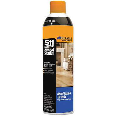 Grout Sealer, 15 oz. Aerosol Can Liquid, Ready to Use, 6 PK