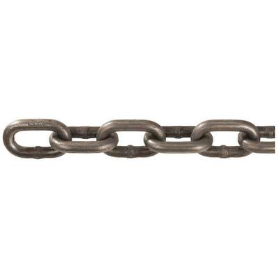 "200 ft. Grade 43 Straight Chain, 3/8"" Trade Size, 5400 lb. Working Load Limit, For Lifting: No"