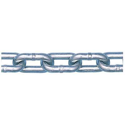 "20 ft. Grade 30 Straight Chain, 3/8"" Trade Size, 2650 lb. Working Load Limit, For Lifting: No"