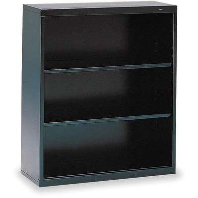 "34-1/2"" x 13-1/2"" x 40"" Stationary Bookcase with 3 Shelves, Black"
