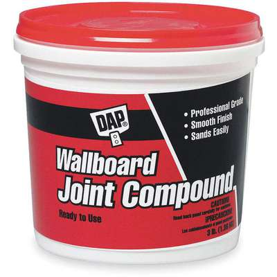 Lightweight Wallboard Joint Compound, 3 lb. Size, White Color, Container Type: Pail