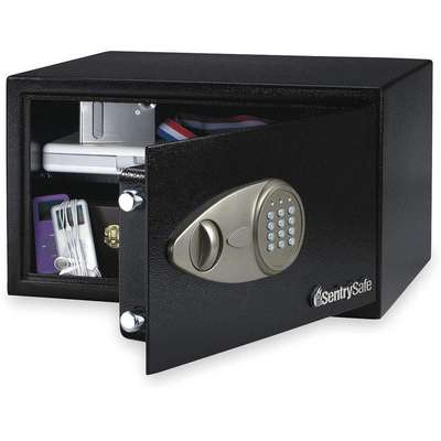 "16-15/16"" x 14-9/16"" x 8-7/8"" Security Safe, Black; Holds Laptop, Power Cord"