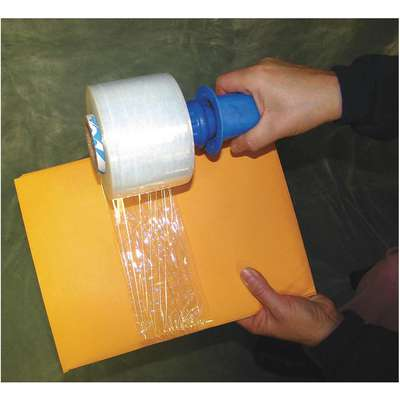 "Stretch Wrap, Hand Dispensed, 1-Side Cling, Standard, 3"" x 1000 ft., Gauge: 80, Clear"