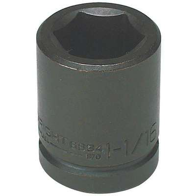 Impact Socket, 3/4 In Dr, 2-1/4 In, 6 pt