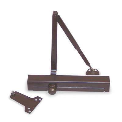 Manual Hydraulic Norton 8301-Series Door Closer, Heavy Duty Interior and Exterior, Dark Bronze