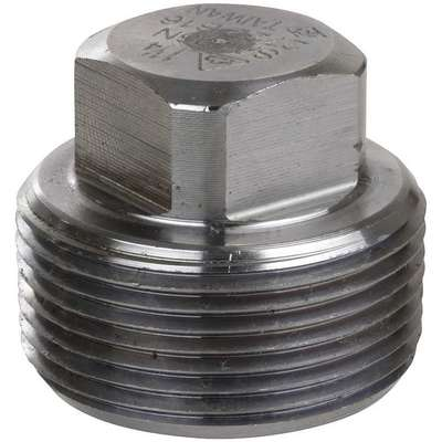 "316 Stainless Steel Square Head Plug, MNPT, 1/8"" Pipe Size - Pipe Fitting"