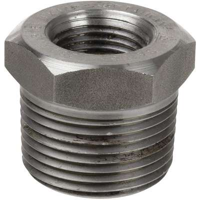 "304 Stainless Steel Hex Reducing Bushing, MNPT x FNPT, 3/4"" x 1/2"" Pipe Size - Pipe Fitting"
